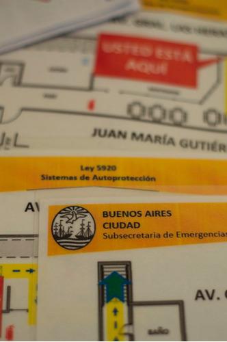 ley 5920 sistema de autoprotección plan evacuación caba