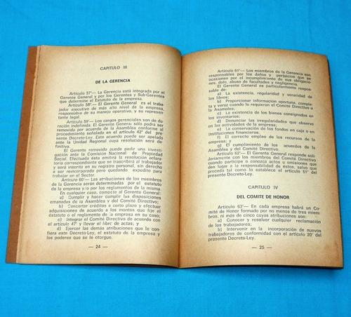 ley de empresas de propiedad social 1974 decreto ley 20598