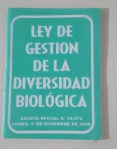 ley de gestion de la diversidad biologica  mayor y detal