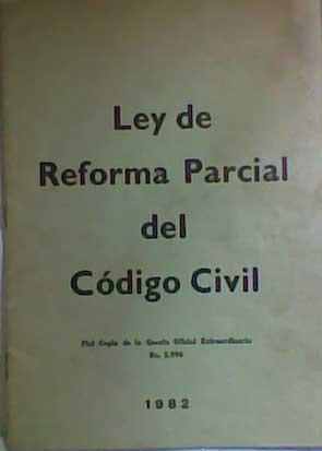 ley de reforma parcial del código civil 1982