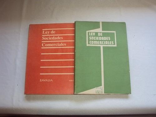 ley de sociedades comerciales (2 libros)