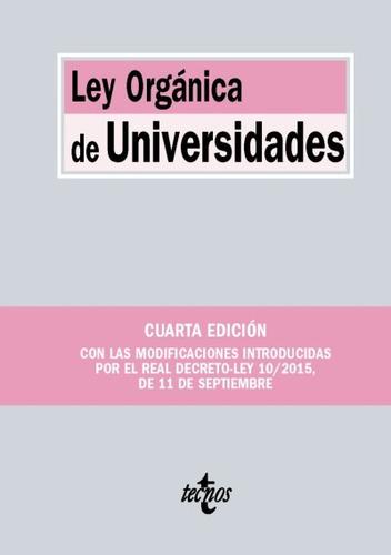 ley orgánica de universidades(libro derecho administrativo)