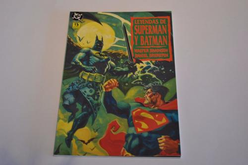 leyendas de superman y batman vol. 1,2 y 3  dc comics