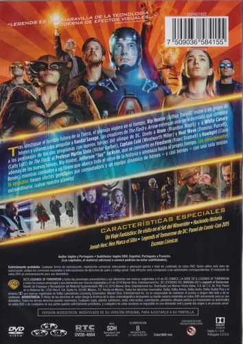 leyendas del mañana legends of tomorrow temporada 1 uno dvd
