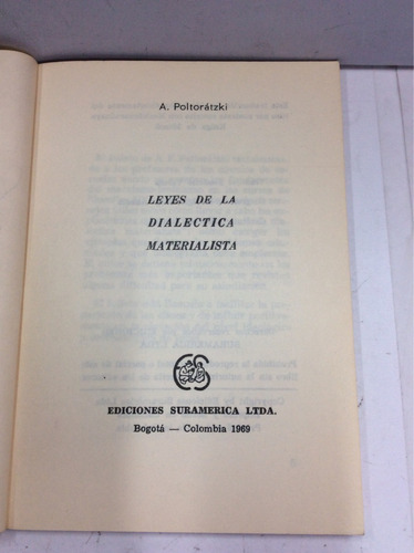 leyes de la dialéctica materialista , a. poltoratzki