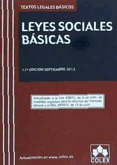 leyes sociales basicas 11ªed tlb 12(libro )