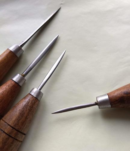 lezna triangular de corte 4mm cuero talabarteria zapatero