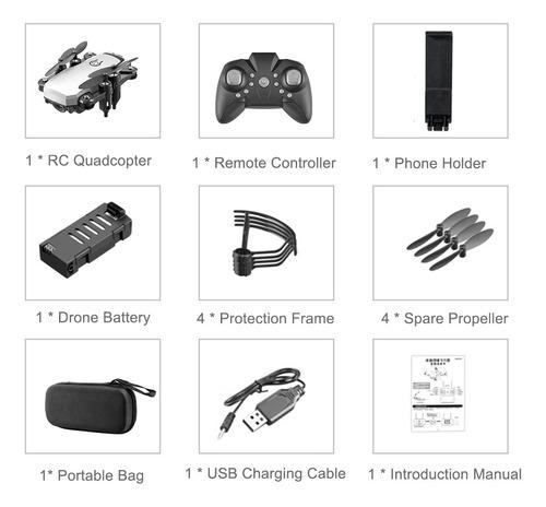 lf606 2.4g rc drone con cámara 4k wifi fpv mini drone para