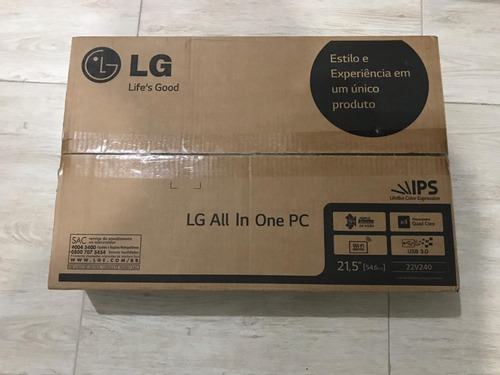 lg all in one 22v240 intel celeron quadcore mem4gb hd 500gb