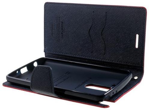 lg g3 stylus forro estuche tipo billetera + protector