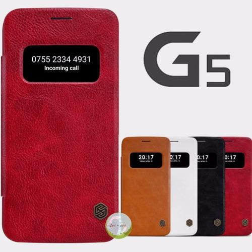 lg g5 quick cover funda protector case cuero original