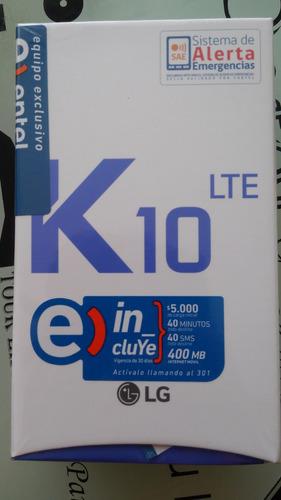 lg k10 lte 16gb 5,3  nuevo sellado liberado + carcasa