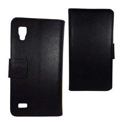 lg l9 funda flip cover cartera negro tarjetas