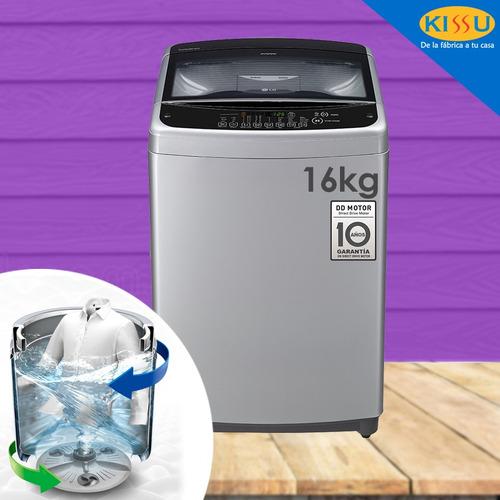 lg lavadora 16kg 35 libras turbodrum smart cromada plateada
