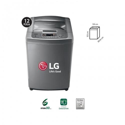 lg lavadora  t1266tpj plateado 12kg/air dry/turbo drum