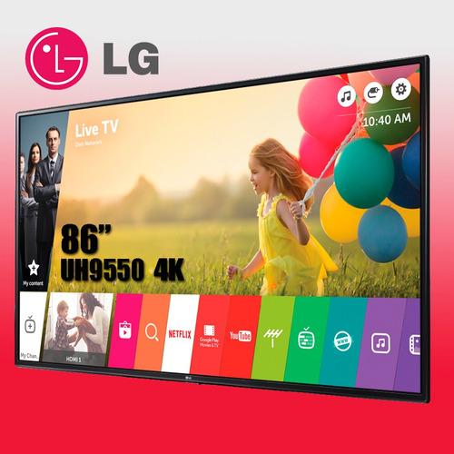 lg led 86 uh9550 4k súper ultra hd smart tv 3d