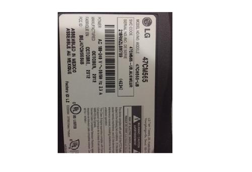 lg led smart 3d cinema tv 47 pulgadas pantalla rota