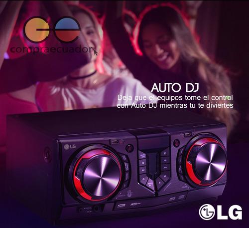 lg mini componente 8100w bluetooth auto dj karaoke usbx 2