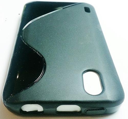 lg optimus black p970 forro + lamina protectora p970