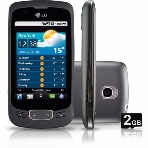 lg p500 3g tela 3.2 android 2.2 wi-fi, gps 3.2mp - novo