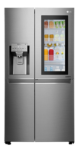 lg refrigeradora 3 puertas 601 lts touch 20pies side by side