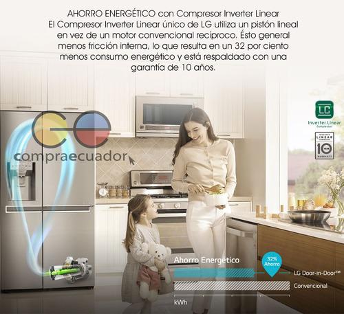 lg refrigeradora nevera side by side 601 litros 3 puertas