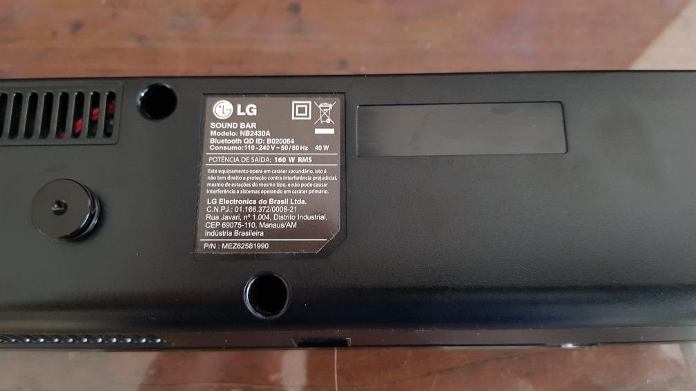 Lg Soundbar Nb2430a 160w Rms - Bluetooth, Usb E Optico