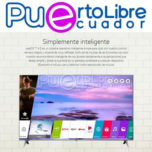 lg televisor 4k led smart tv 55  + g r a t i s cine en casa