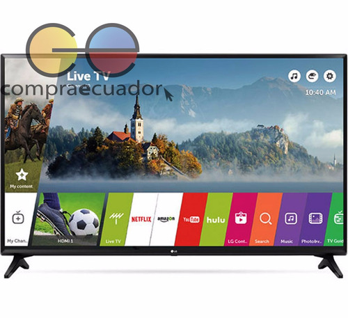 lg televisor led 43¨ smarttv full hd wifi usb hdmi +cobertor