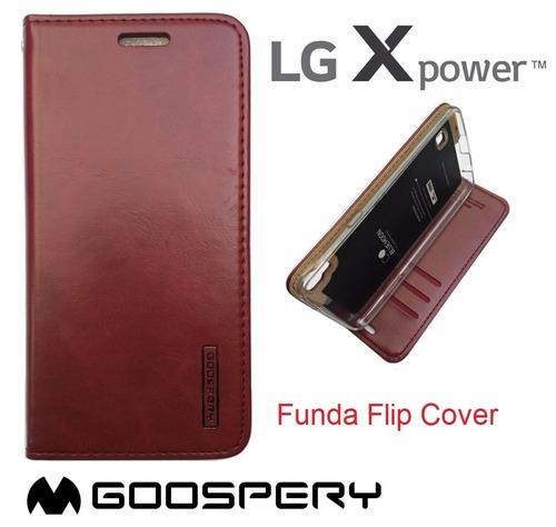 lg x power funda flip cover estuche case protector con tapa