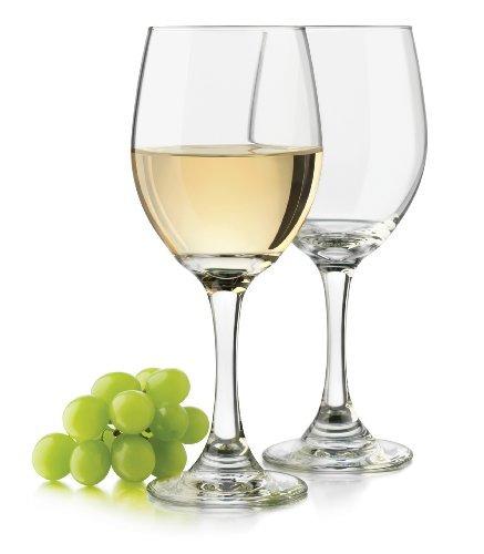 libbey 14 onzas clásico vidrio del vino blanco, claro, 4 pi