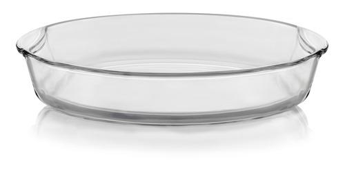 libbey baker s basics glass oval bake dish, 4.3-quart