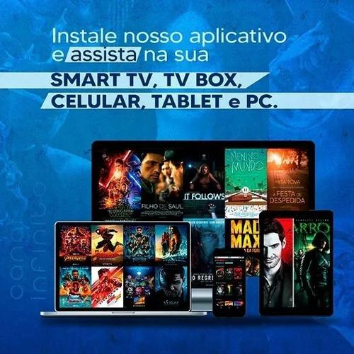 libero mais de 10mil conteúdos em sua smartv, tv box, tablet