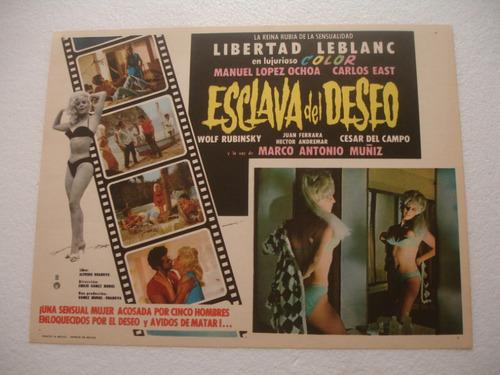 libertad leblanc, esclava del deseo ,  cartel de cine