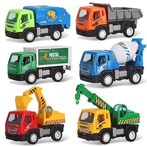 liberty imports conjunto de 6 vehículos de construcción pu