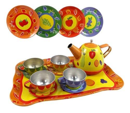 liberty imports juego de té y frutas colores