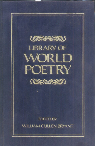 library of world poetry- bryant william