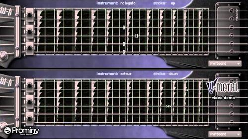 librería de guitarra: prominy v-metal | pc / mac