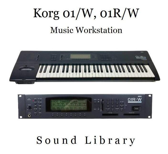 Librería De Sonidos Para Korg 01w, 01rw (wfd, Wpro, Wprox) - $ 480,00