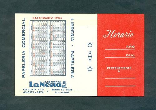 Calendario Del Ano 1965.Libreria La Nena Calendario De Bolsillo 1965
