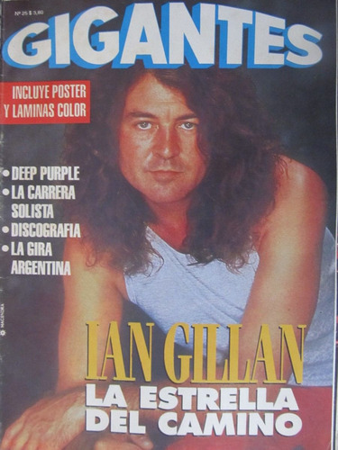 libreriaweb revista gigantes n 25 ian gillan deep purple