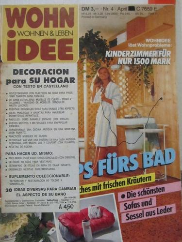 libreriaweb revista wohn idee - abril 1986