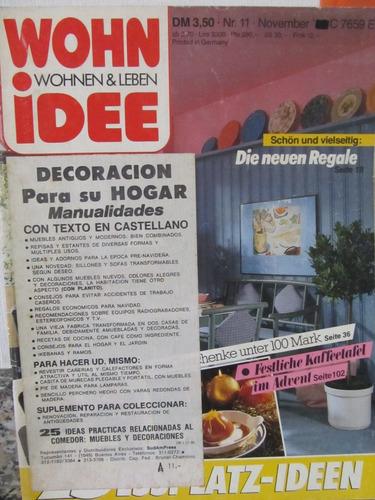 libreriaweb revista wohn idee - noviembre 1986