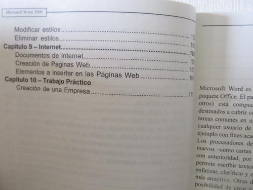 libreriaweb word 2000 guía de aprendizaje teórica y práctica