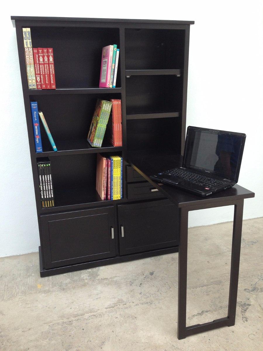 Librero 1 Mueble 2 En 1 Escritorio De Madera Organizador  # Muebles Libreros