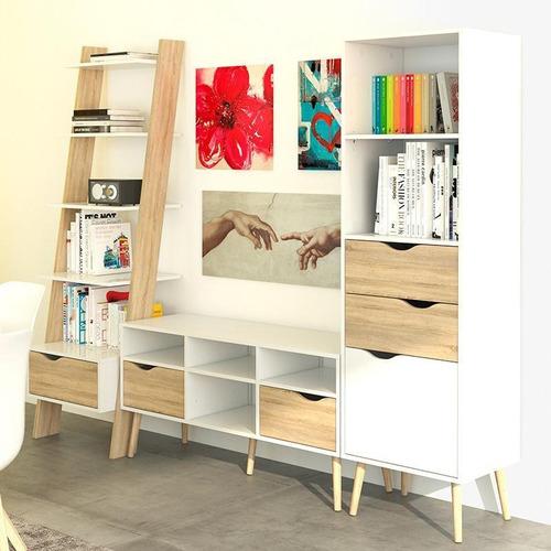 librero blanco y café claro-7538549ak