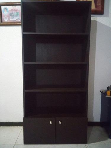 librero color chocolate/negro/blanco