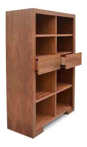 librero cowan parota - inlab muebles