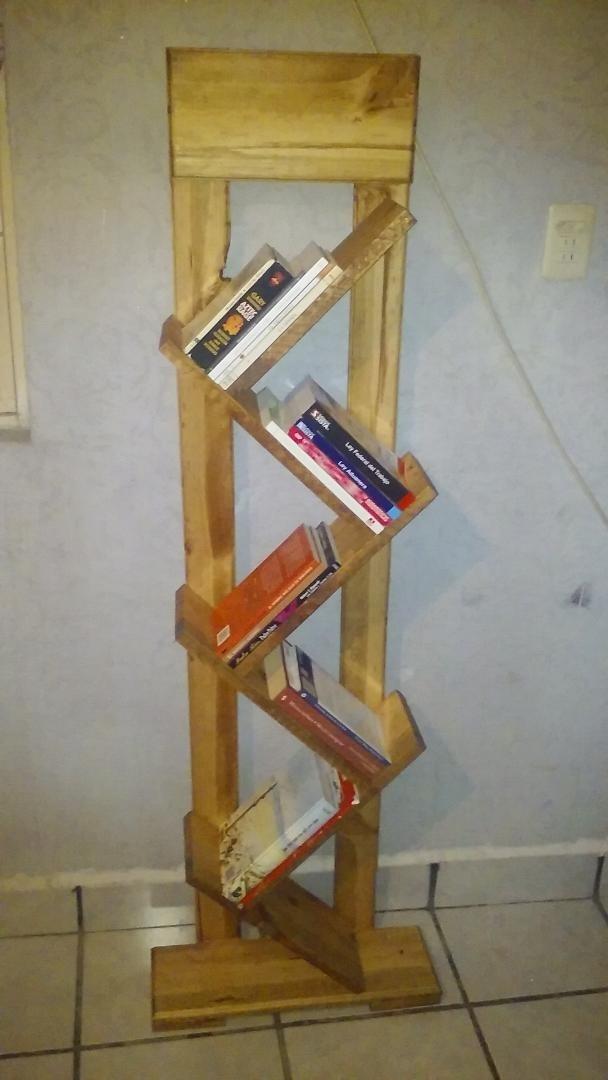Libreros de madera librero rtico de mdp blanco libreros - Libreros de madera modernos ...