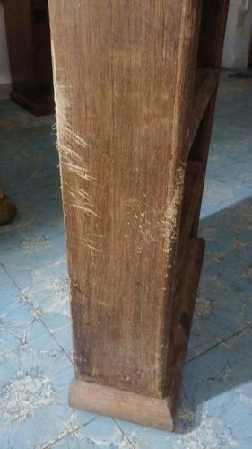 librero de madera estilo rustico